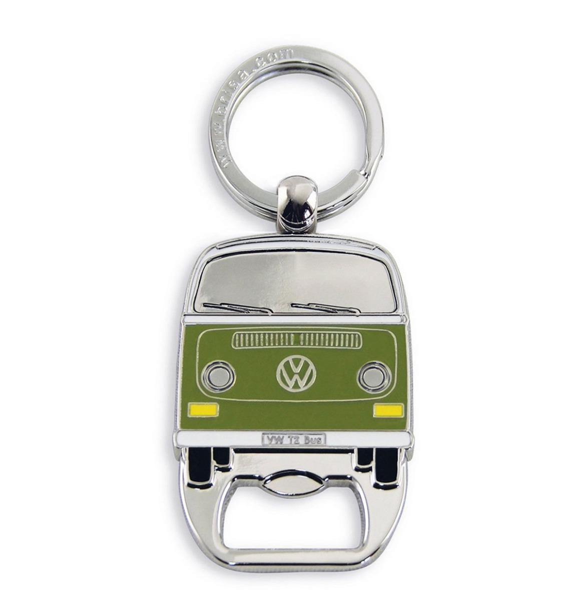 VW Volkswagen T2 Sleutelhanger En Flessenopener Groen