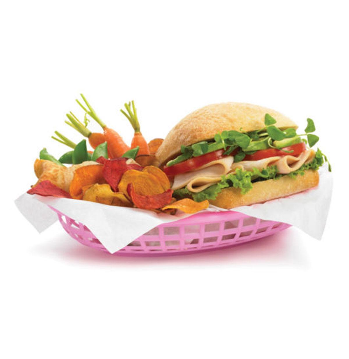 Fast Food-Hamburger Mand Klein Roze ( 6 stuks )