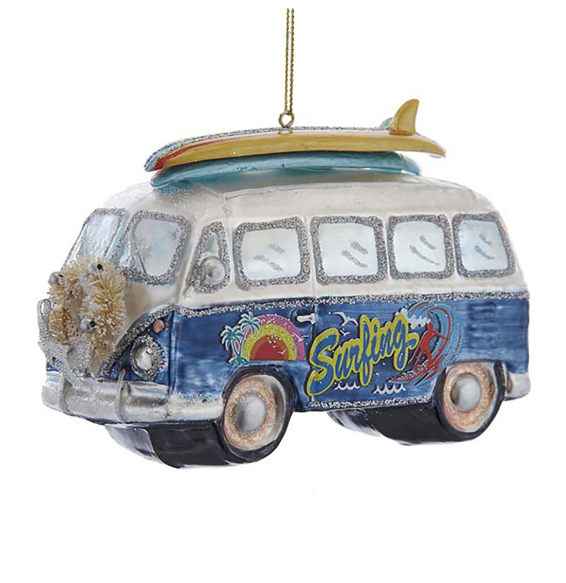 Kurt S. Adler Glass Bus Surfboard Kerst Ornament