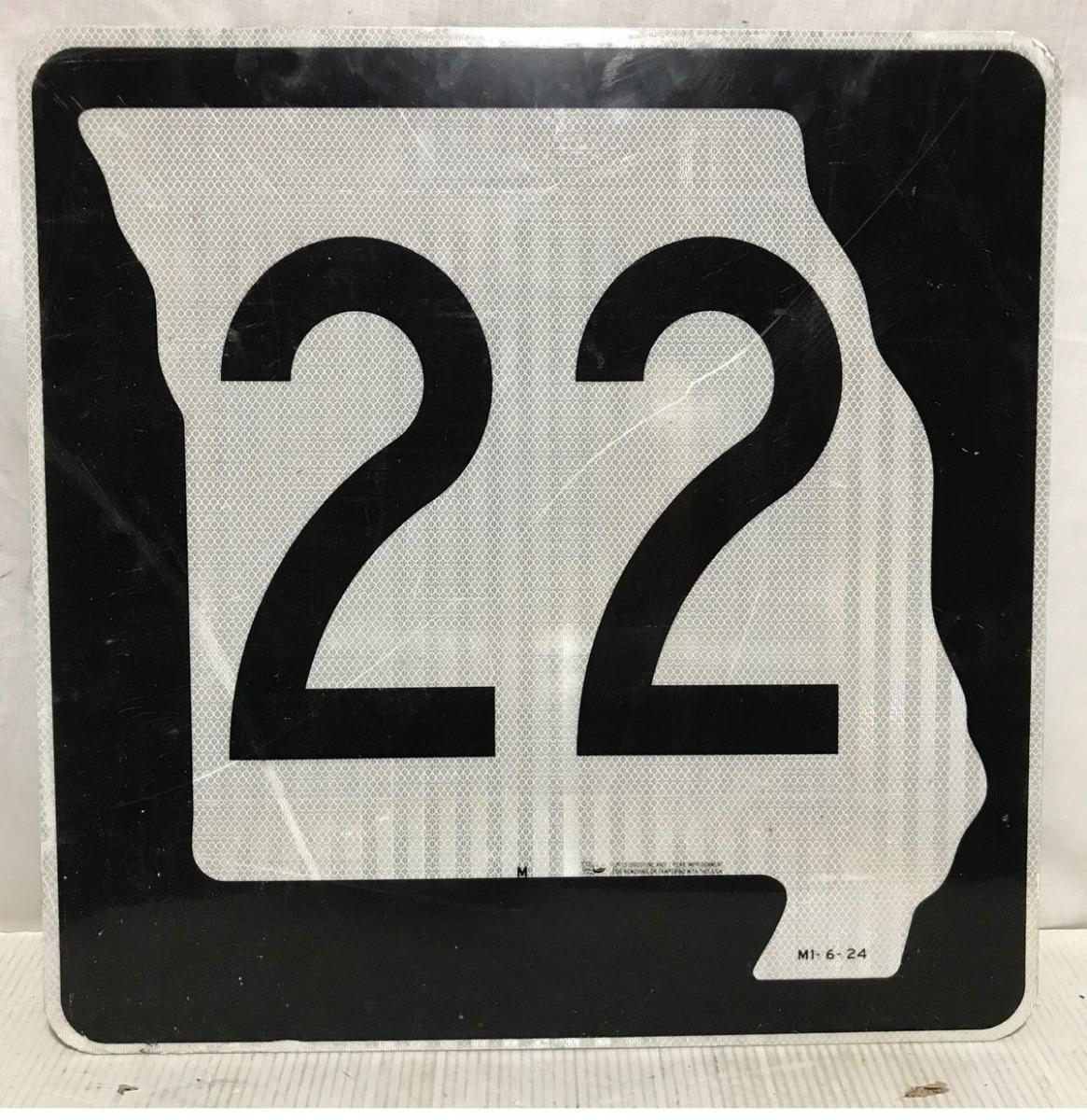 Missouri Route 22 Highway Origineel Straatbord