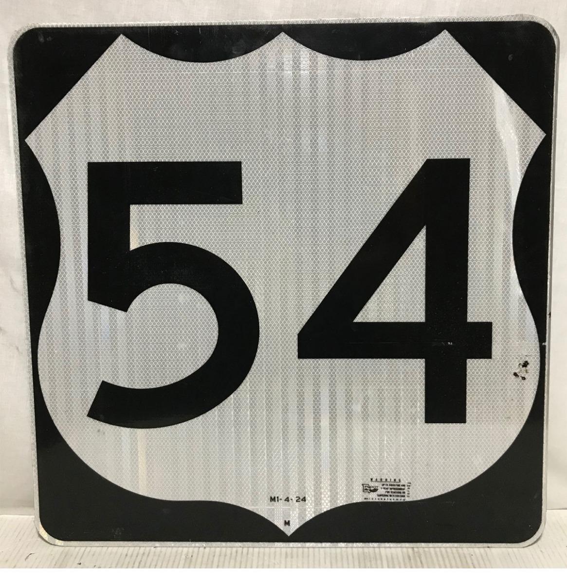 Missouri Route 54 Highway Origineel Straatbord