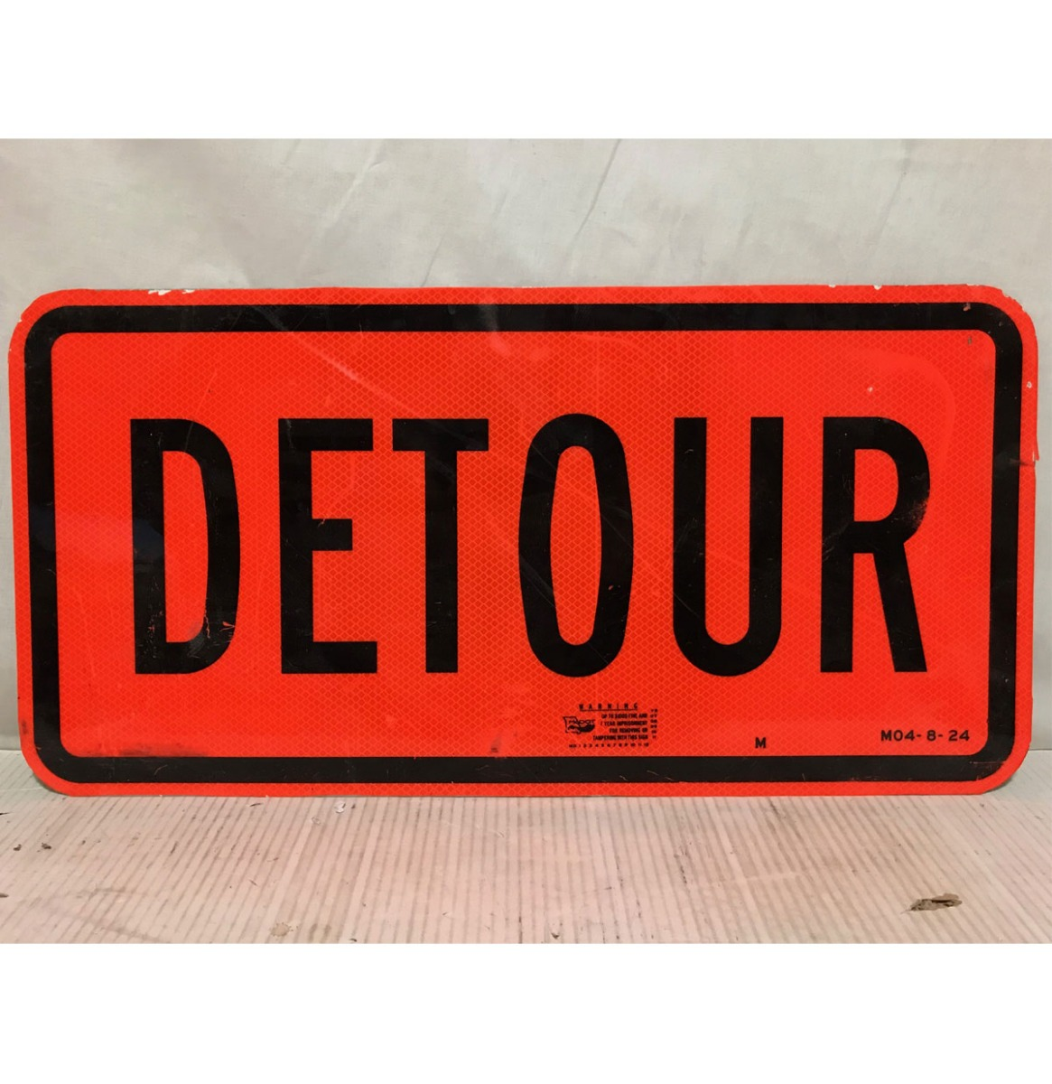 Detour Origineel Street Sign