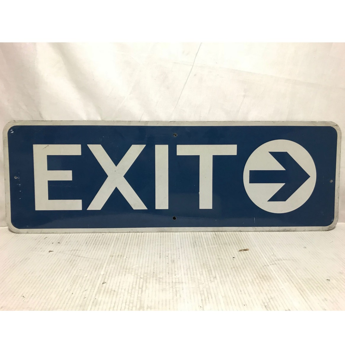 Exit Right Highway Original Street Sign