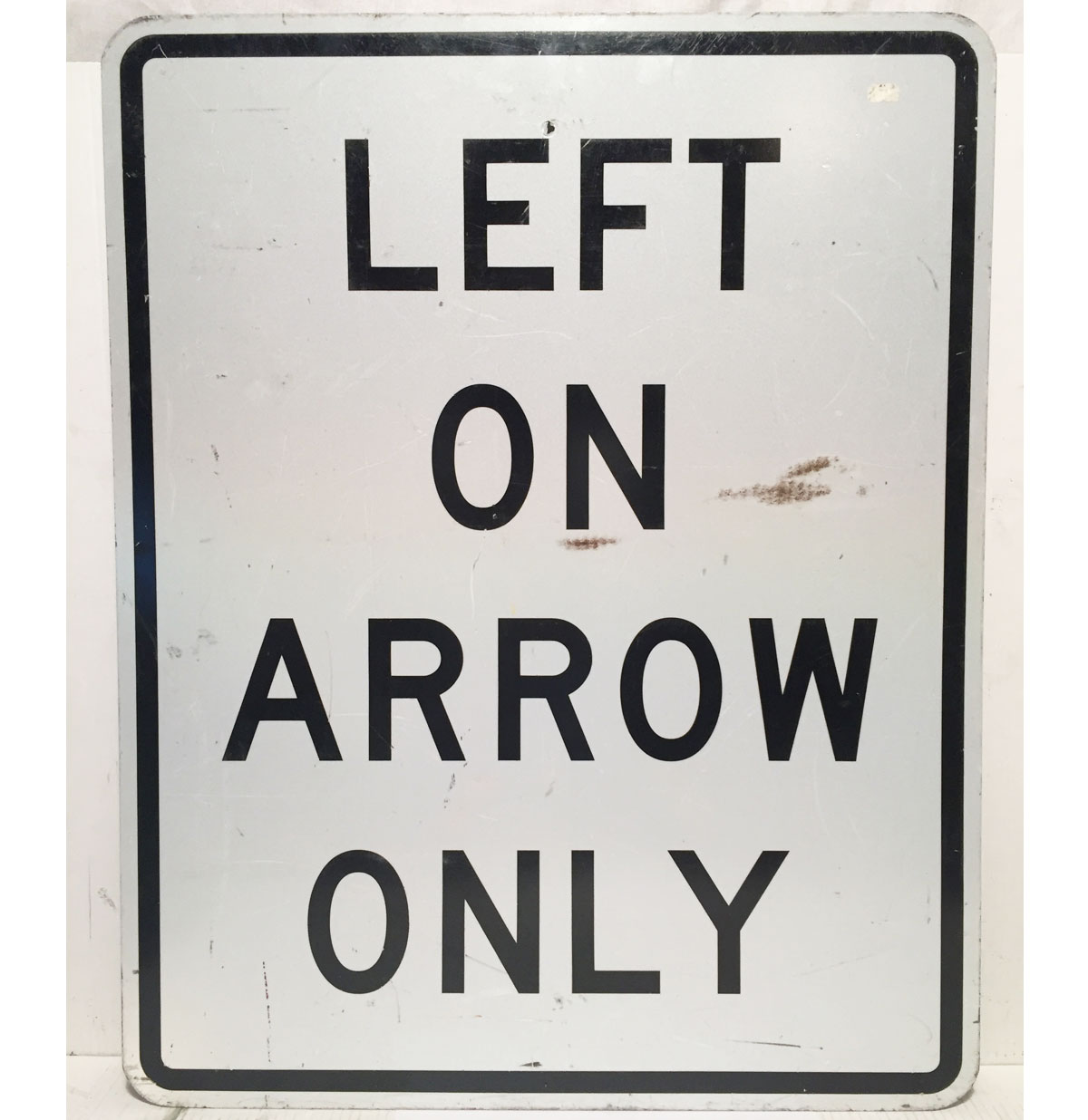 Left On Arrow Only Straatbord - Origineel