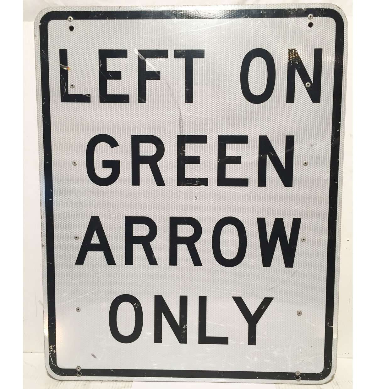 Left On Green Arrow Only Straatbord - Origineel