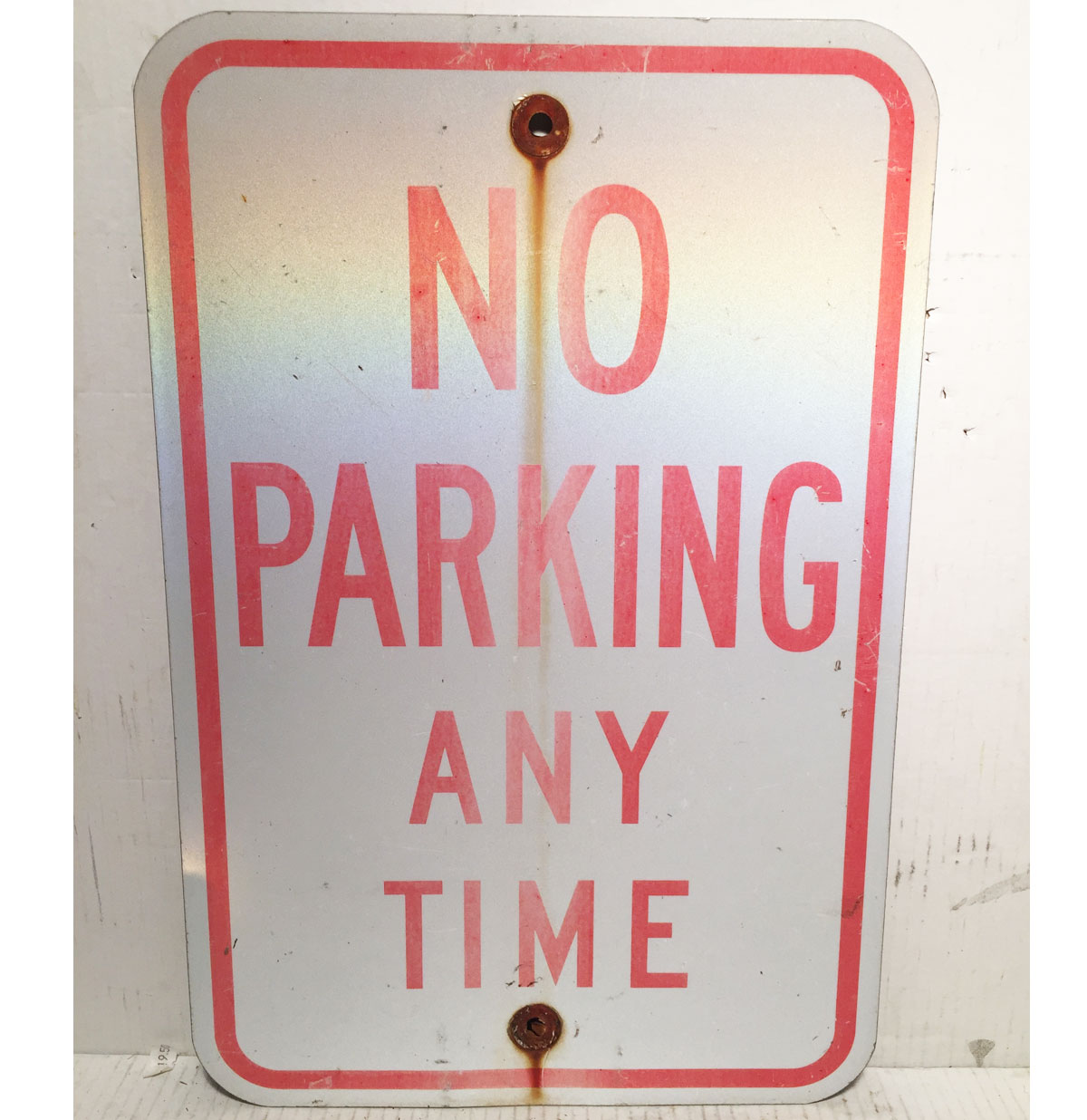 No Parking Any Time Straatbord - Origineel