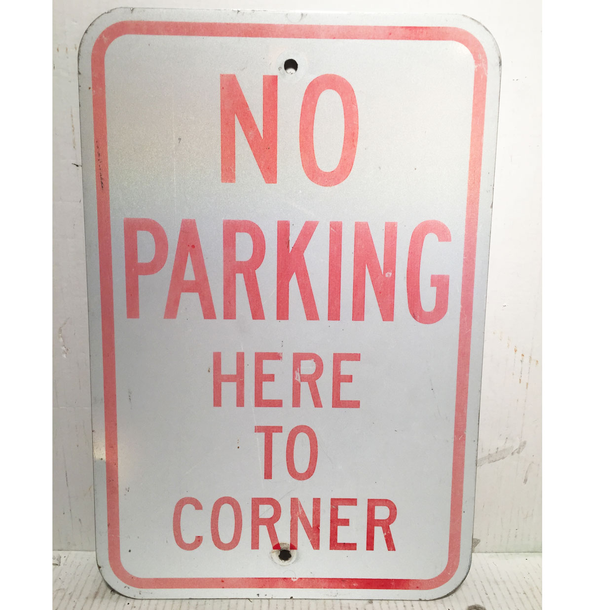 No Parking Here To Corner Straatbord - Origineel