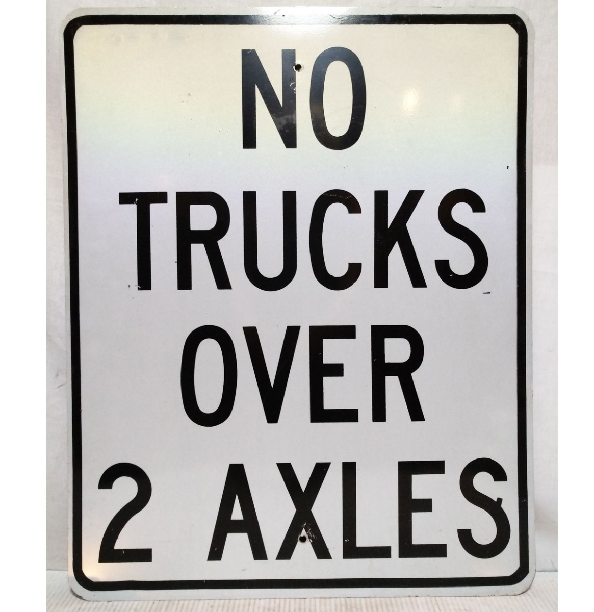 No Trucks Over 2 Axles Street Sign - Original