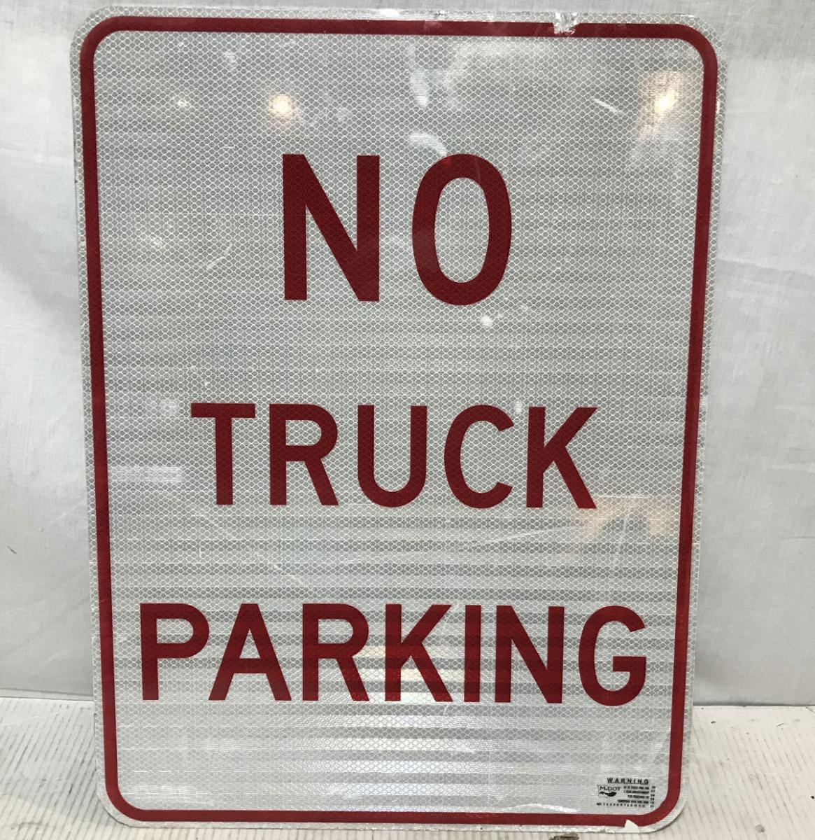 No Truck Parking Verkeersbord - Origineel