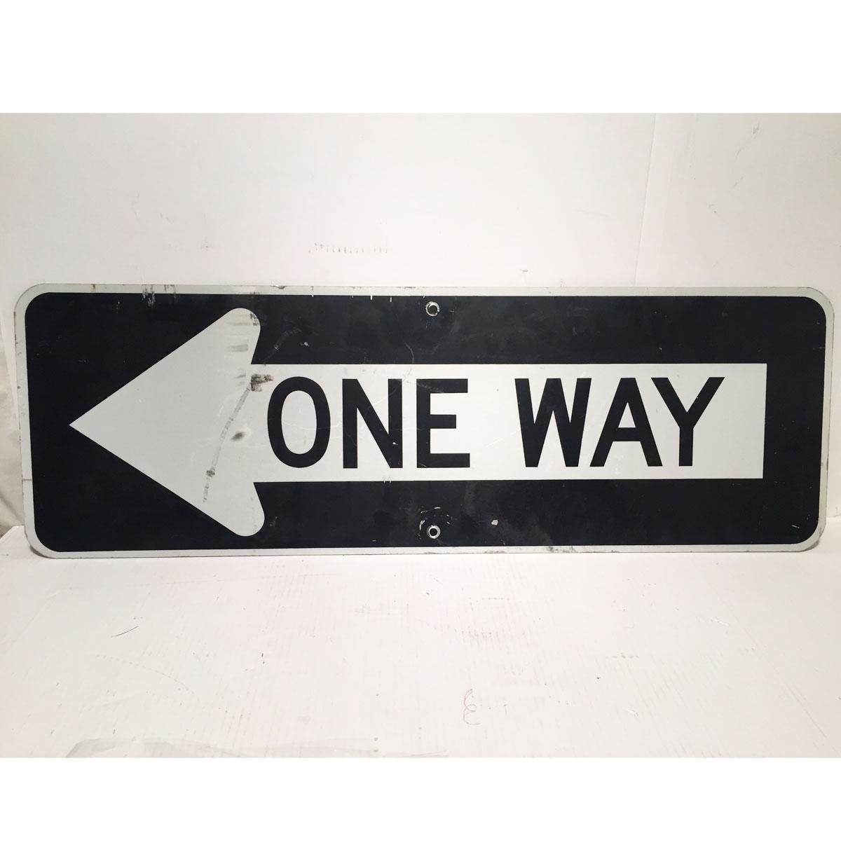 One Way Straat Bord Links - Origineel