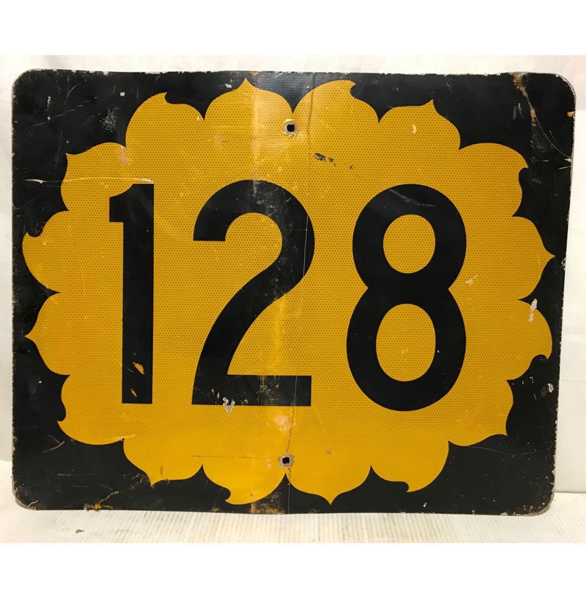 California Route 128 Highway Origineel Straatbord
