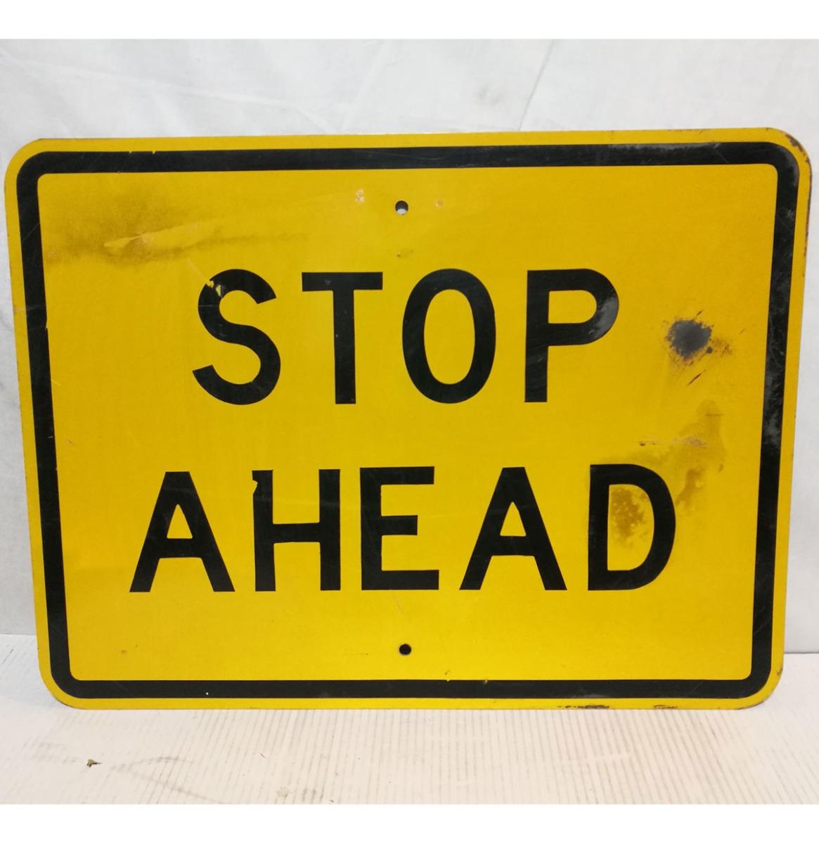 Stop Ahead Straat Bord - Origineel
