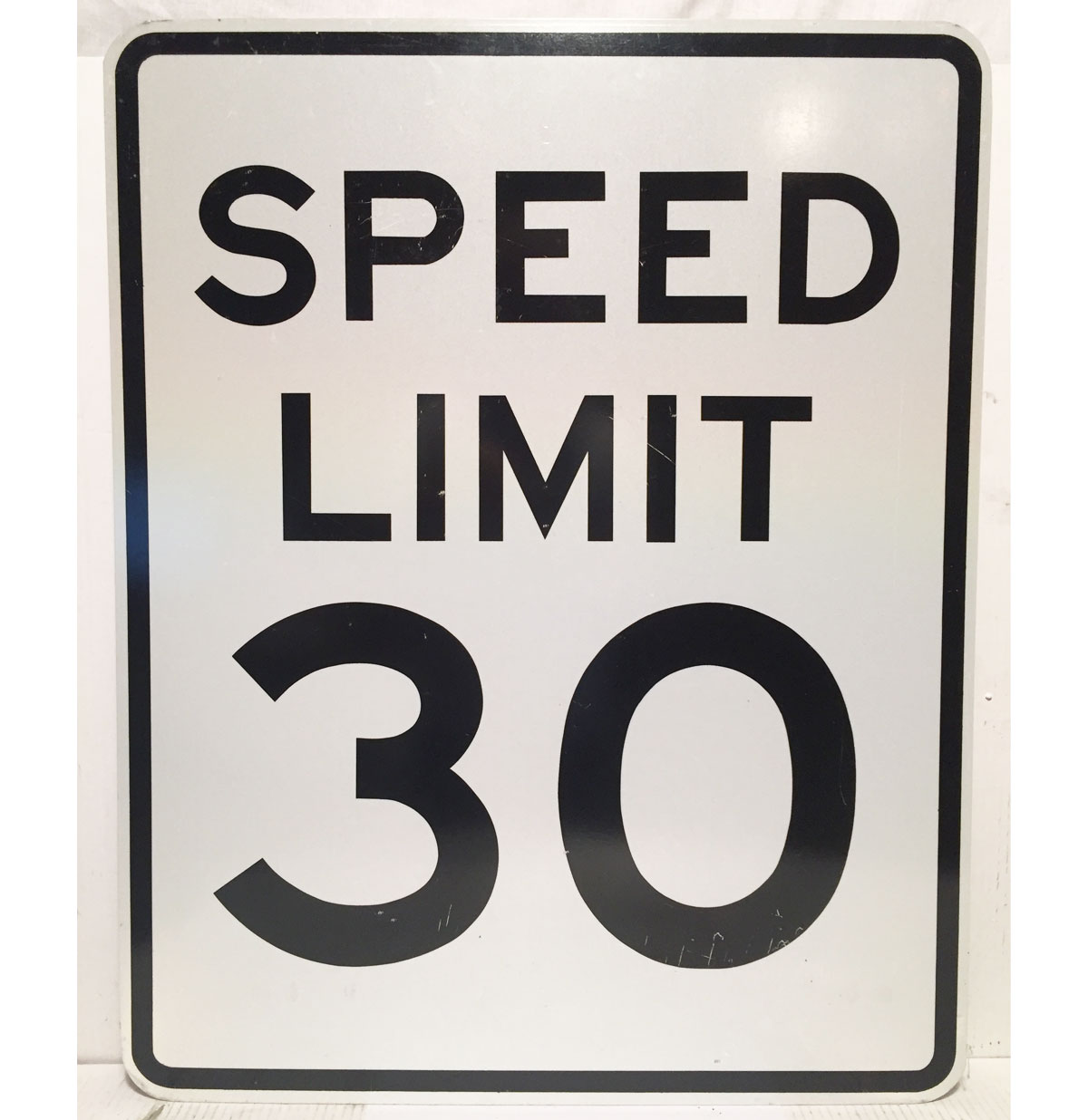Speed Limit 30 Straatbord - Origineel