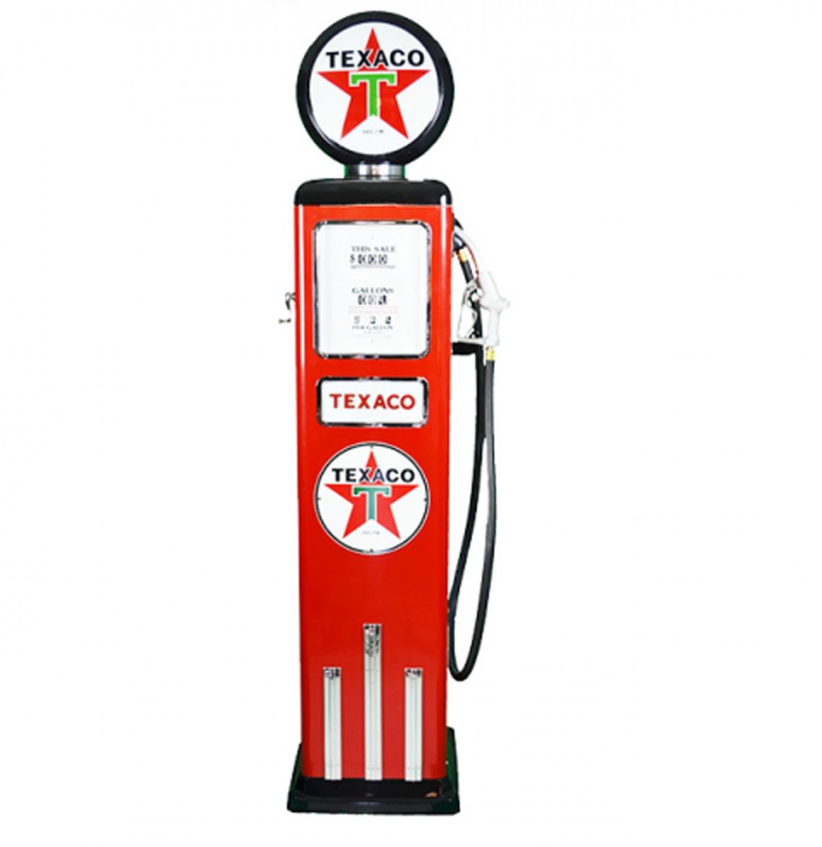 Texaco 8 Ball Deluxe Elektrische Benzinepomp Met Voet - Rood - Reproductie