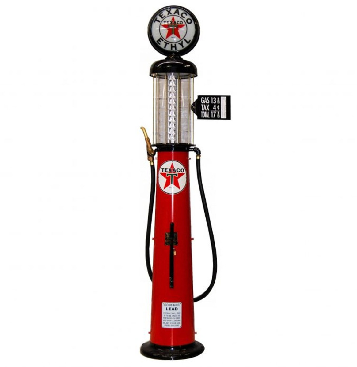 Wayne 615 Texaco Ethyl 10 Gallon Benzinepomp - Rood & Zwart - Reproductie