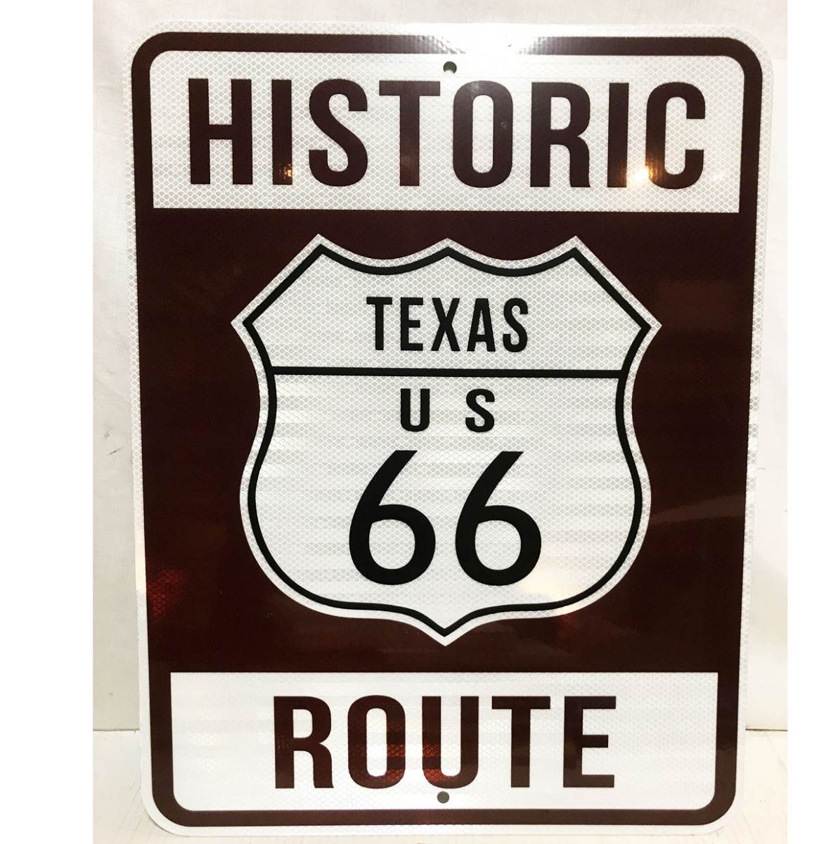 Historic Route 66 Texas Snelweg Bord - Reflecterend