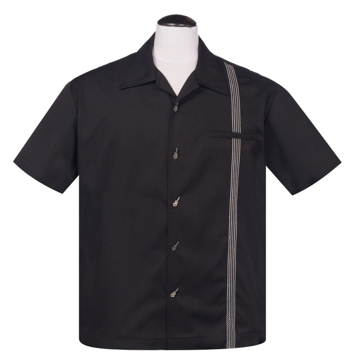 Six String Shirt, Black-White