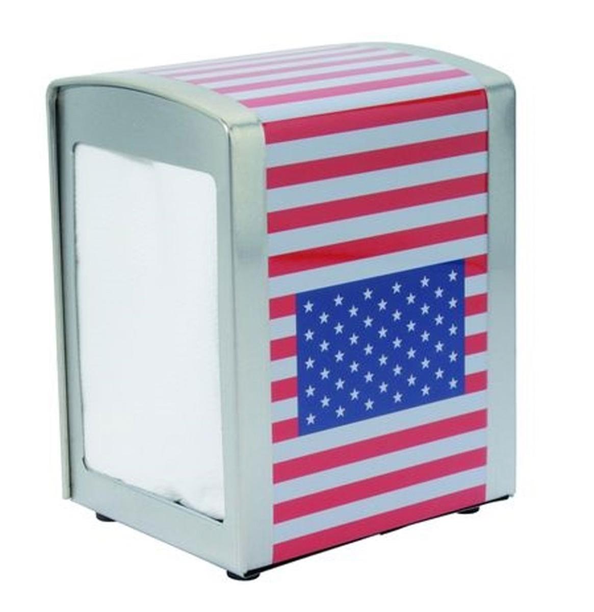 Napkin Dispenser USA Flag
