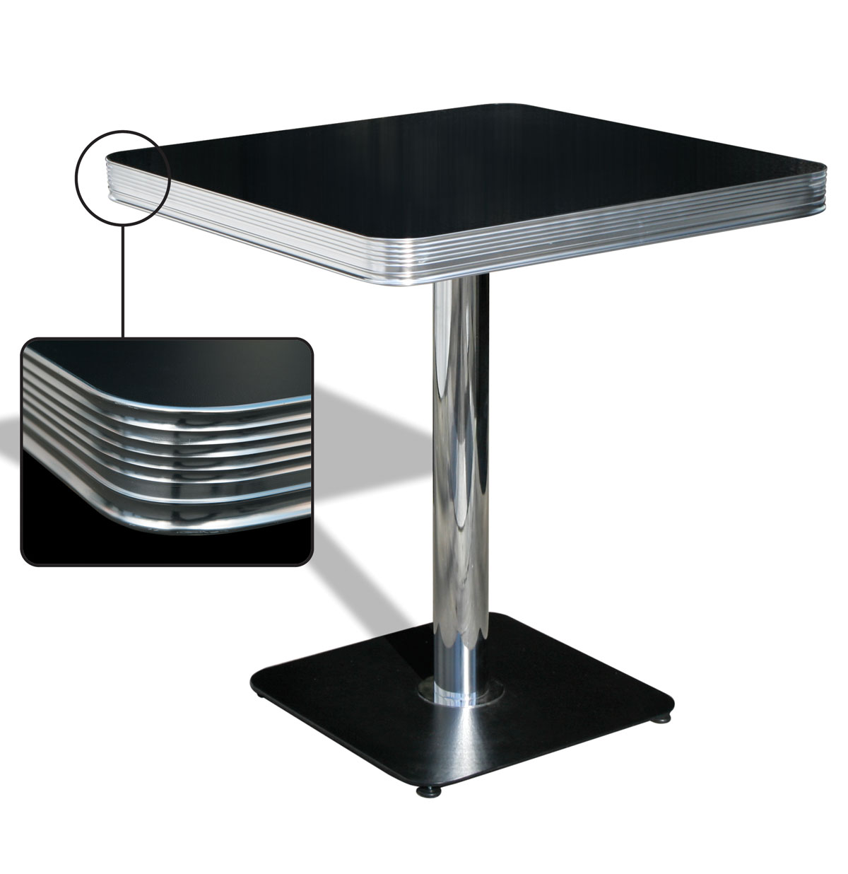 Bel-Air Diner Tafel TO23W Blackstone