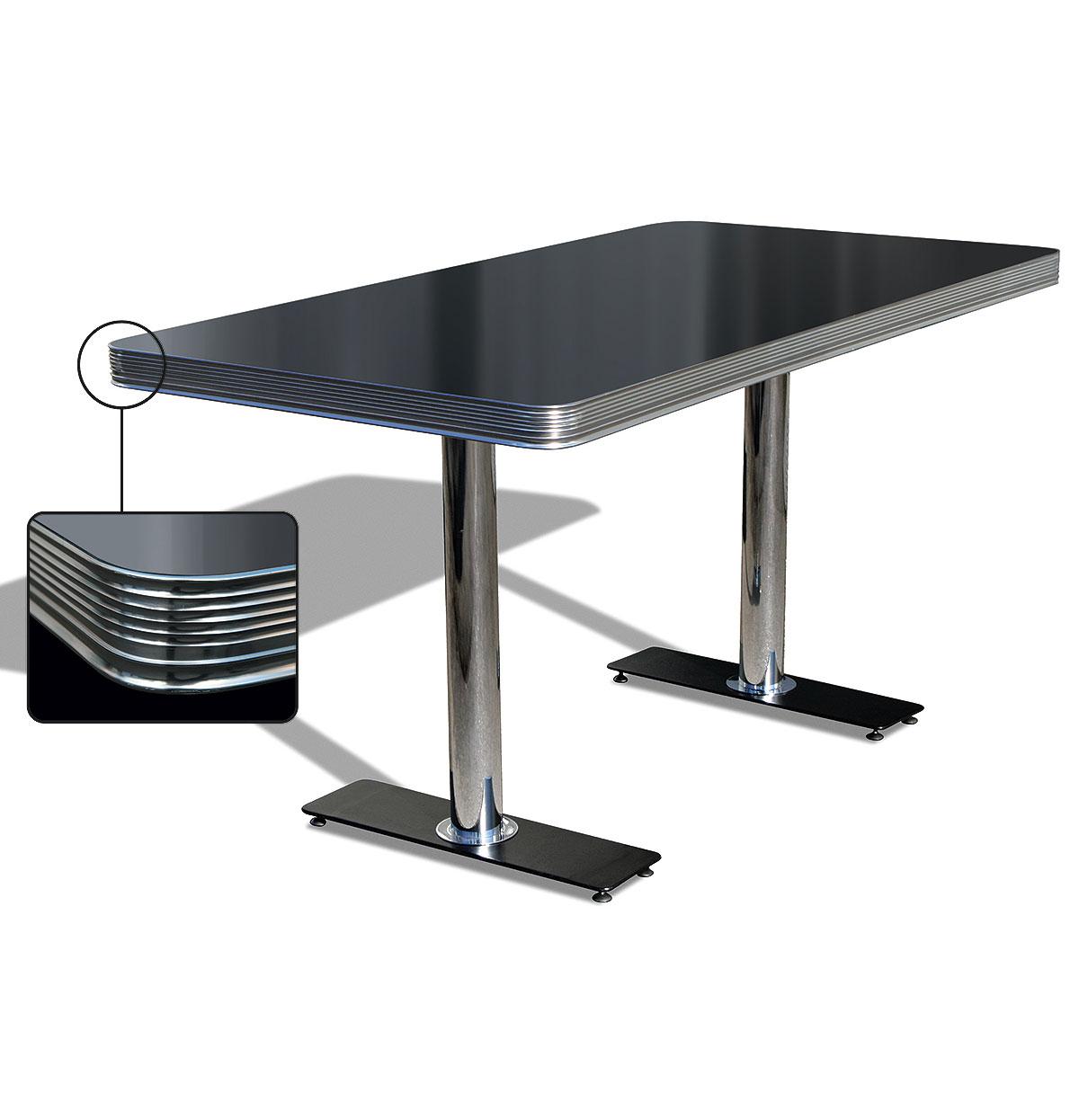 Bel-Air Diner Tafel TO-25W Blackstone