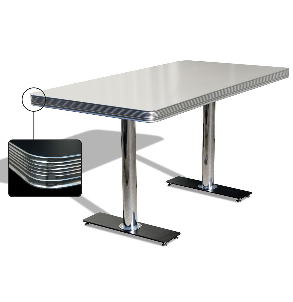 Bel-Air Diner Tafel TO-25W Antique White