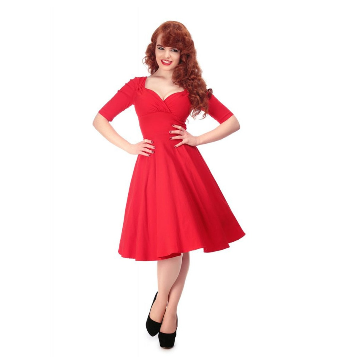 Collectif Trixie Doll Dress Rood