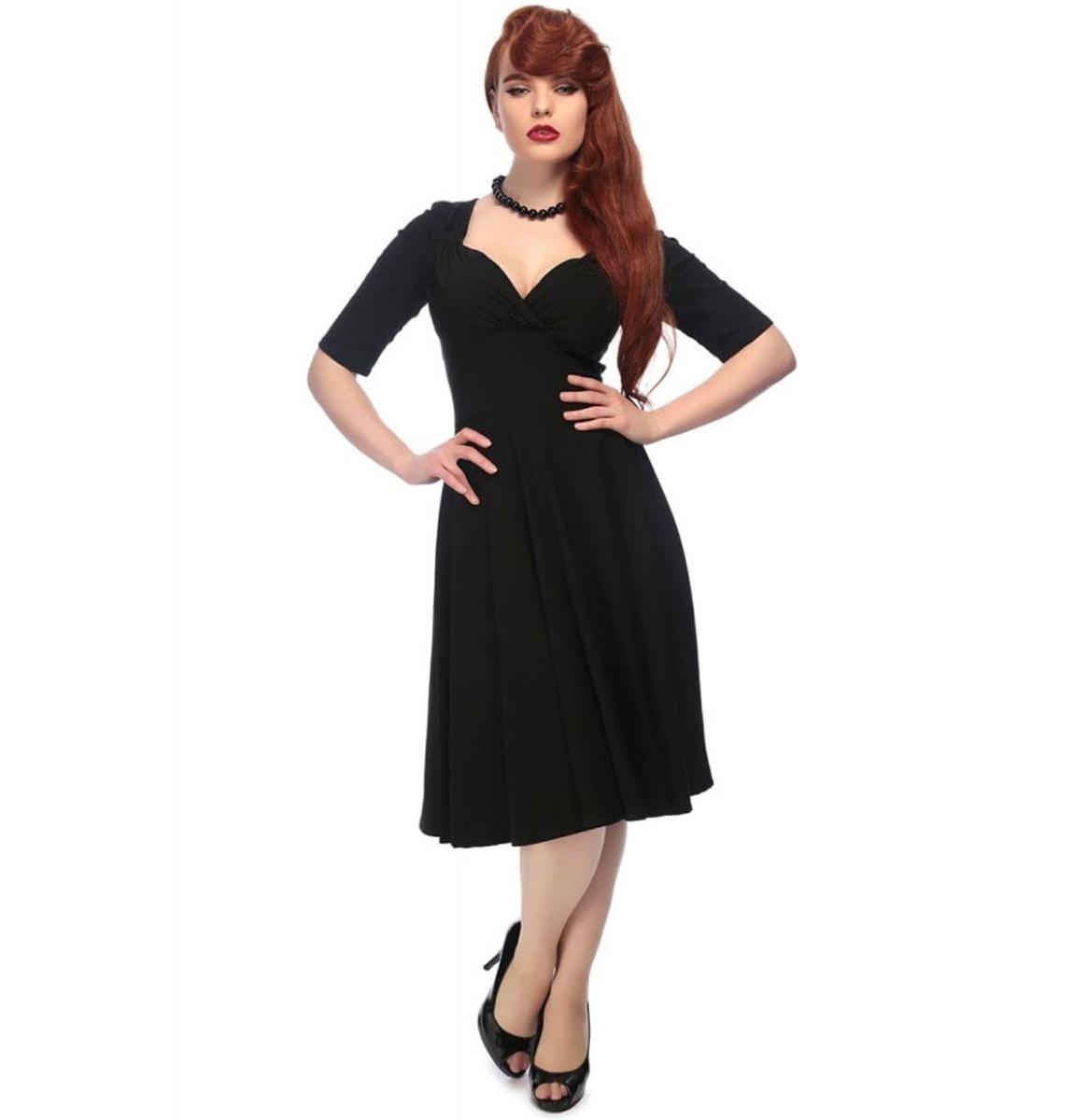 fiftiesstore Trixie Doll Dress Zwart