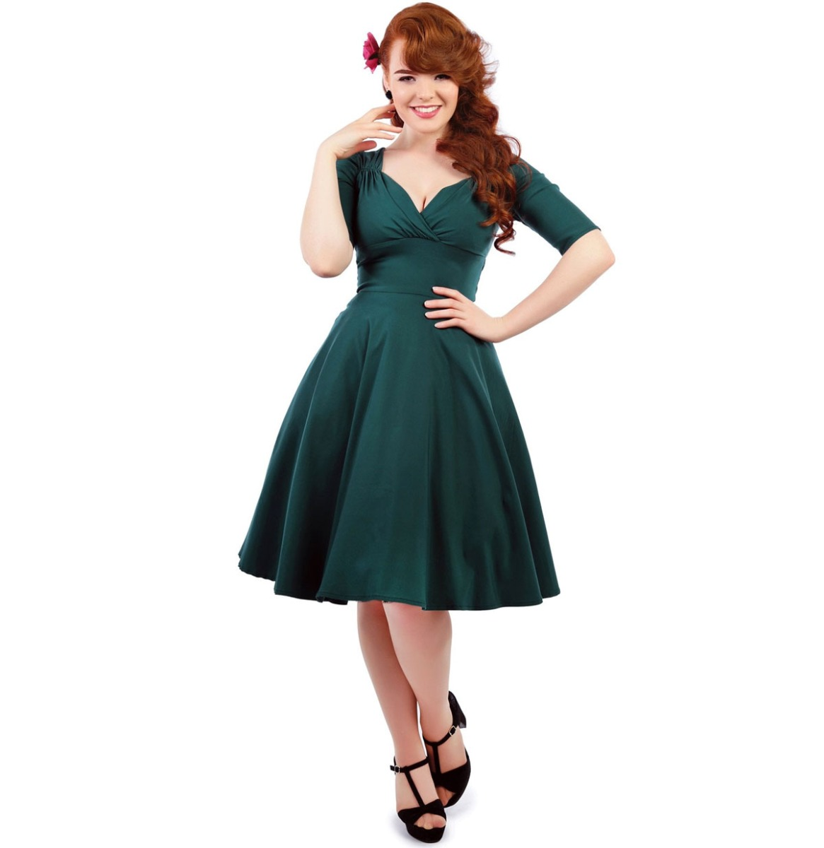 Fiftiesstore Collectif Trixie Doll Jurk Teal