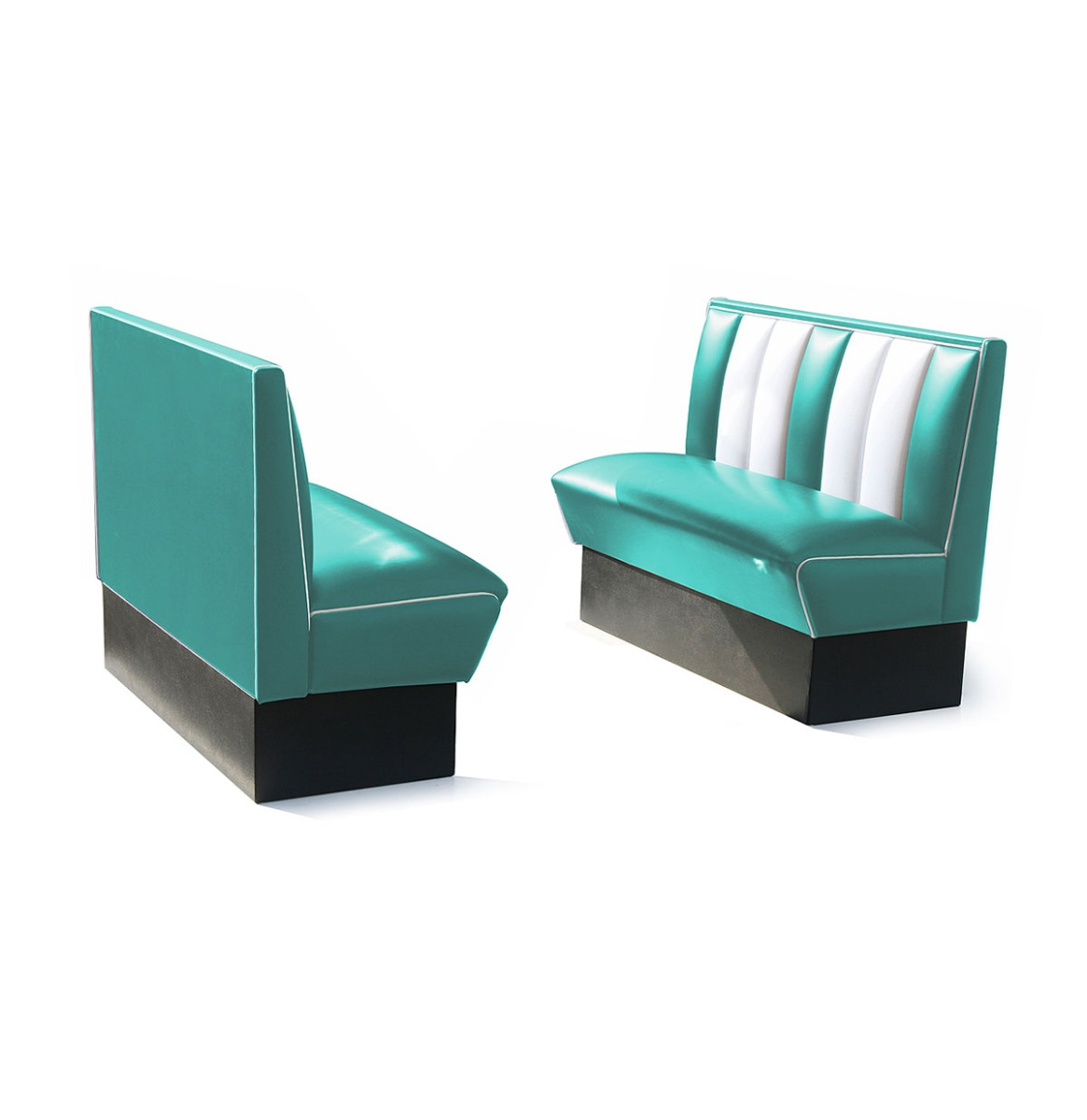 Classic Retro Diner Bank Bel Air HW120 Turquoise