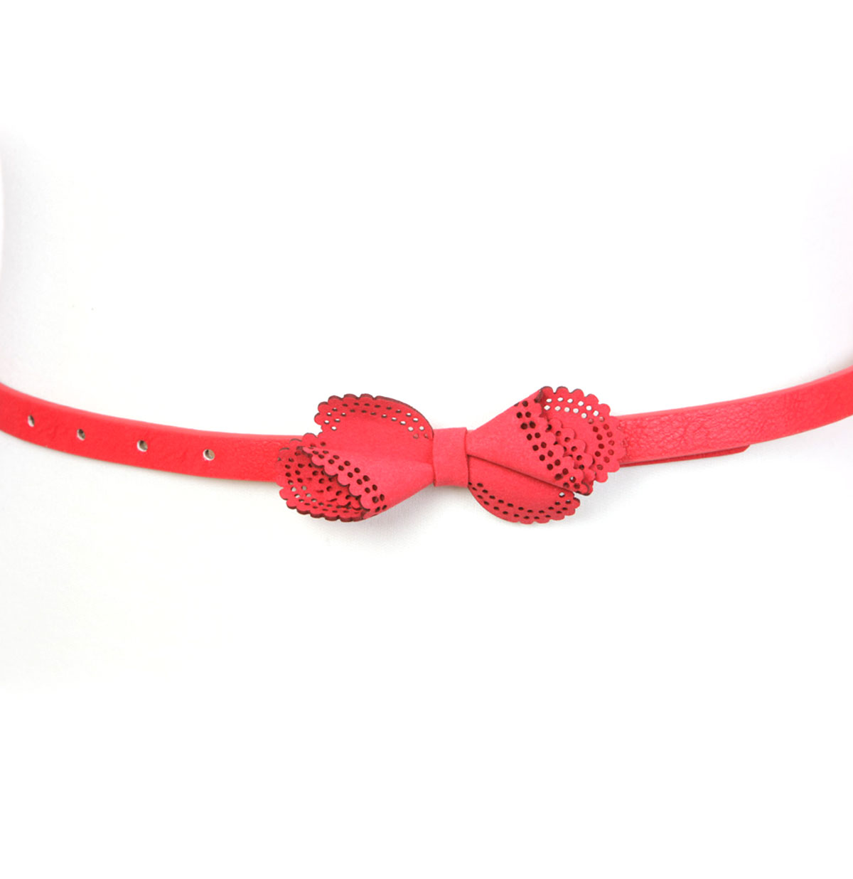 Twisted Bow Belt, Red
