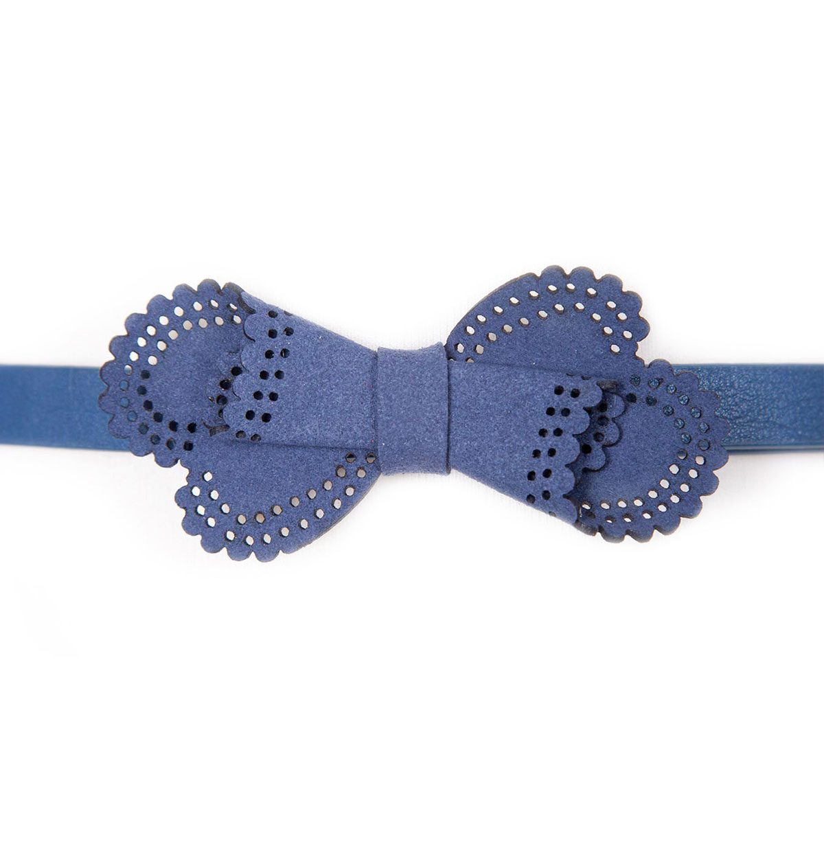 Twisted Bow Belt, Blue