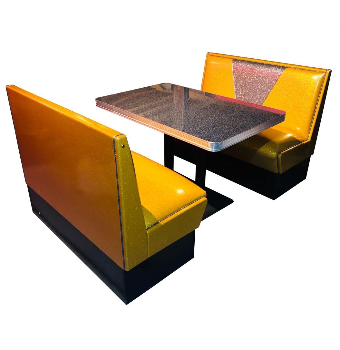 Retro Diner Set Vegas Goud Grijs Glitter 120 cm