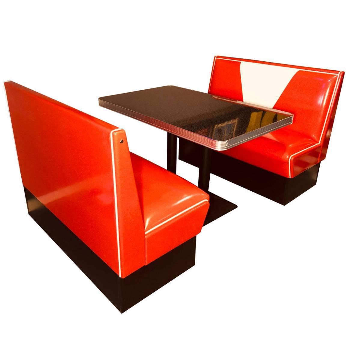 Retro Diner Set Vegas Rood Wit Glitter 120 cm