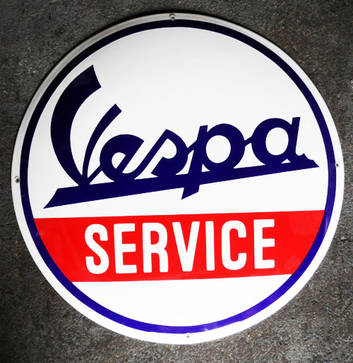 Vespa Emaille Logobord Groot