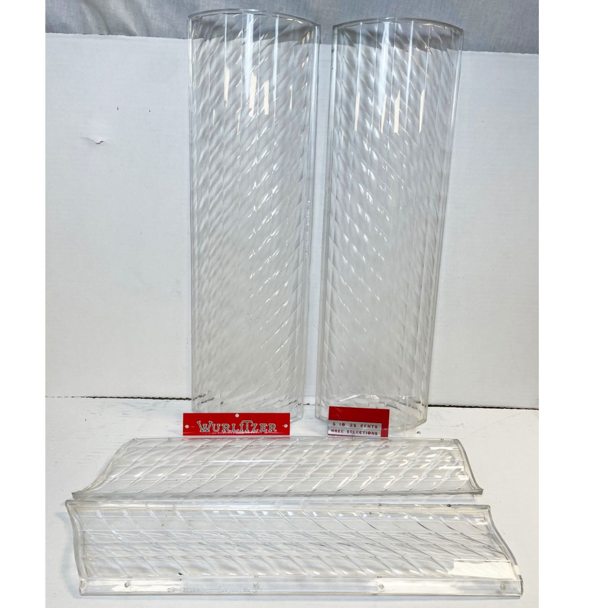 Wurlitzer Model 1100 Plastic 4 Delige Set Incl. Make Selection, 5-10-25 En Wurlitzer Plastics