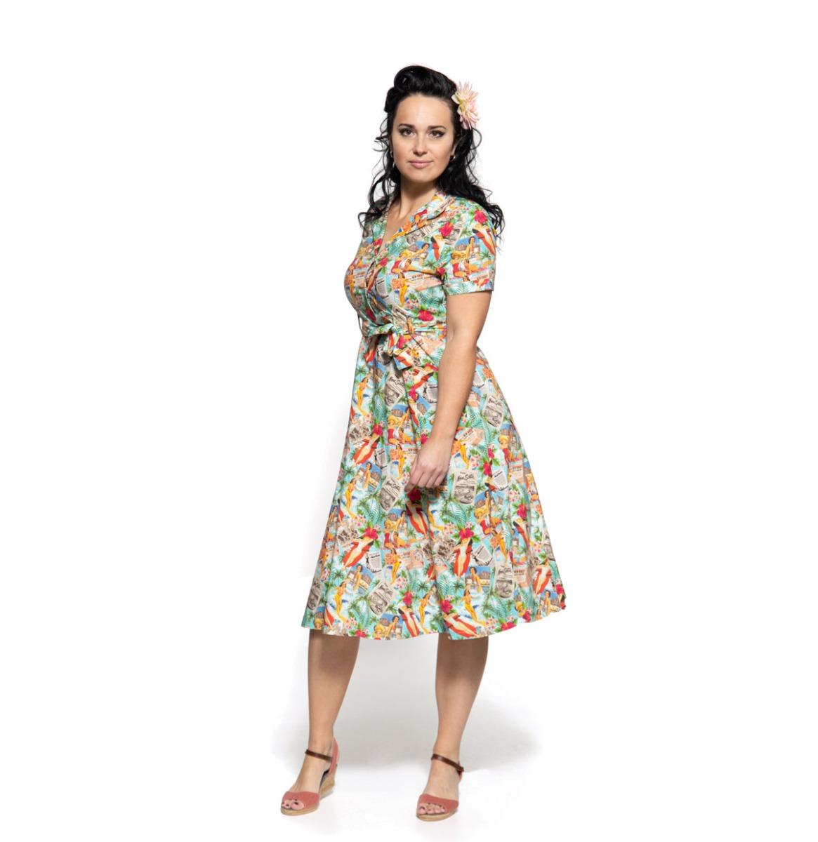 Queen Kerosin Vintage Summer Jurk Multicolor