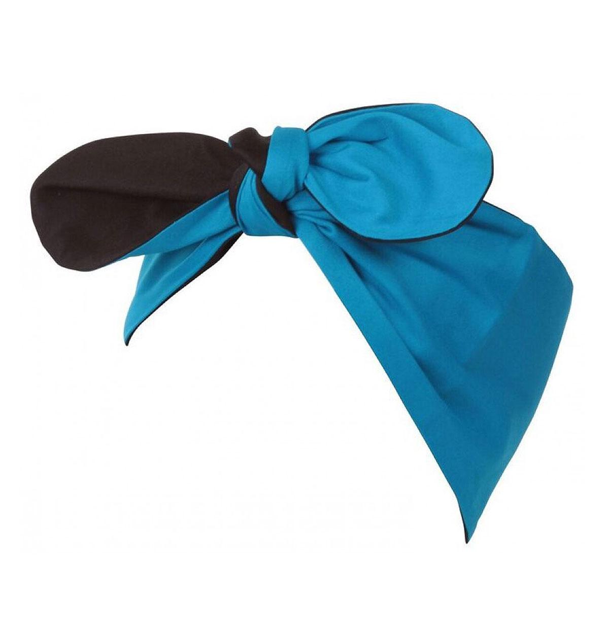 Vintage Inspired Plain Headband Turquoise/Zwart