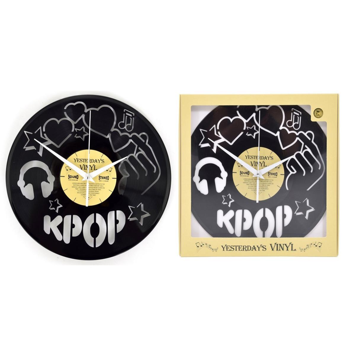 Vinyl Klok K-Pop Versie 2 - Gemaakt Van Een Gerecyclede Plaat