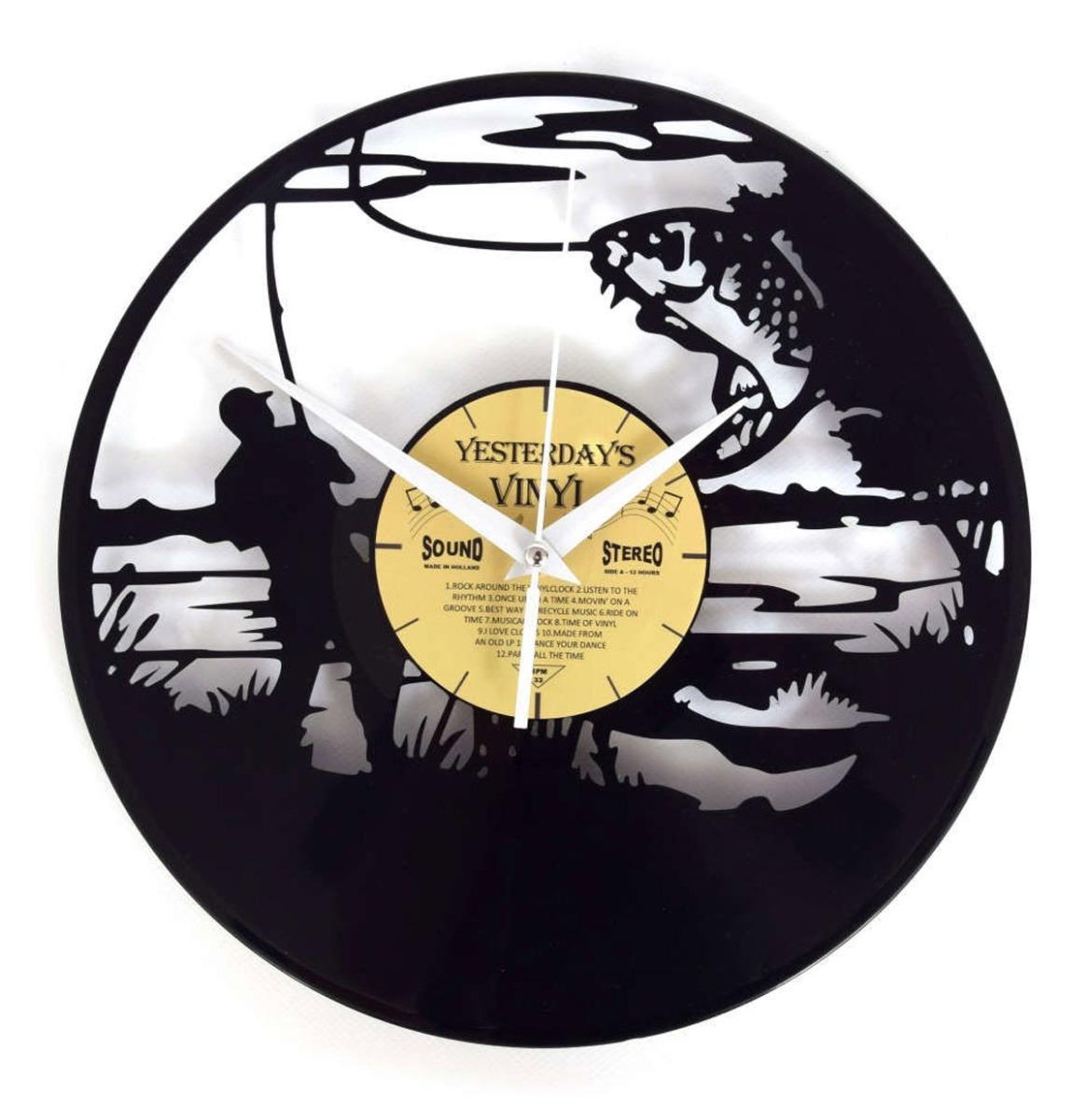 Vinyl Klok Visser - Gemaakt Van Een Gerecyclede Plaat