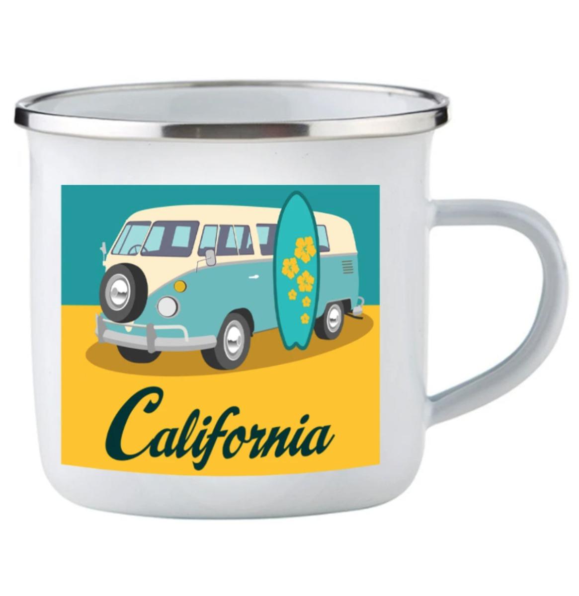Emaille Mok California Volkswagen Logo