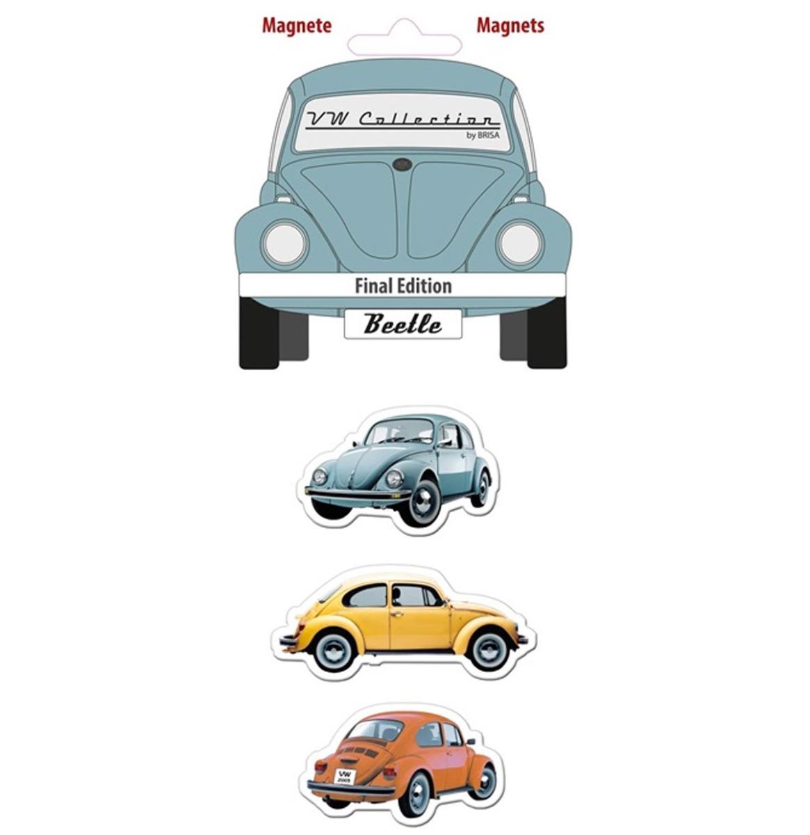 Volkswagen Beetle Multicolor Silhouette Magneet Set van 3