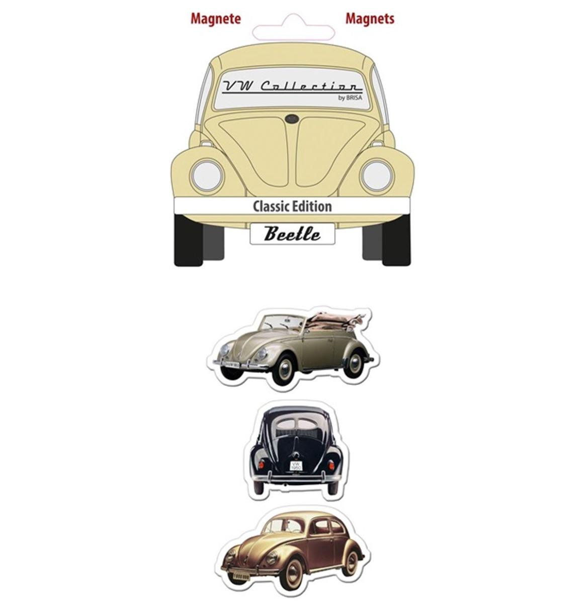 Volkswagen Beetle Silhouette Magneet Set van 3