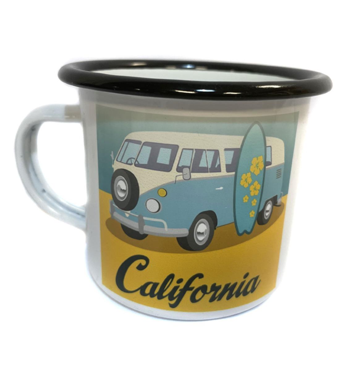 Volkswagen California Emaille Mok