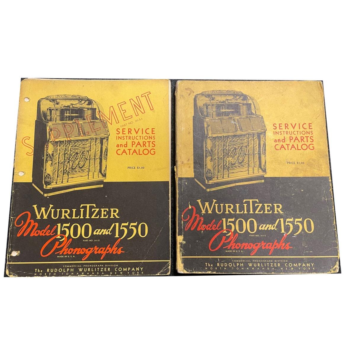 Wurlitzer 1500-1500 Manual Set