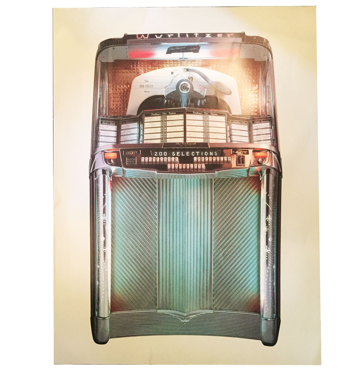Wurlitzer 2000 jukebox poster