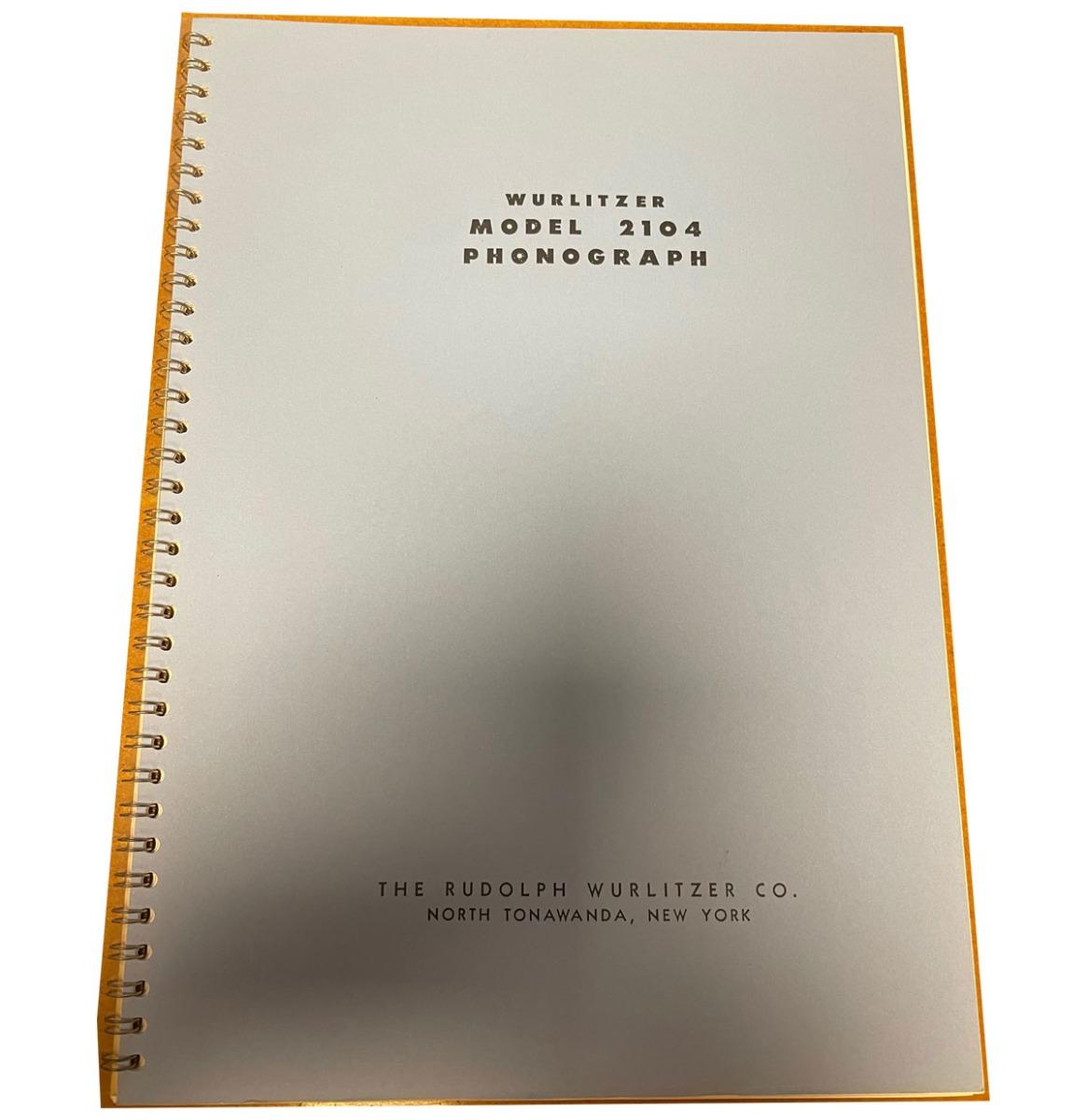 Wurlitzer 2104 Jukebox Manual Beknopte Versie