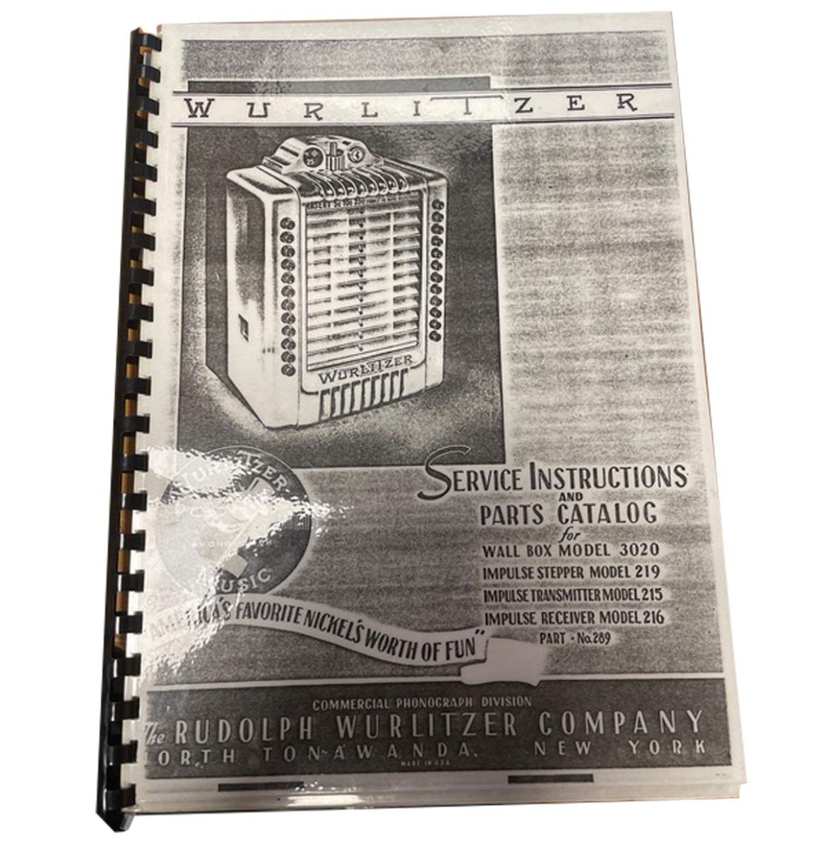 Wurlitzer Wall Box 3020 And Stepper 219 Manual - Kopie