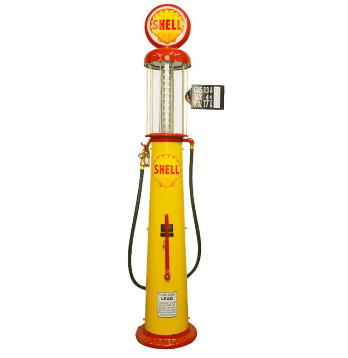 Wayne 615 Shell 10 Gallon Benzinepomp - Geel & Rood - Reproductie