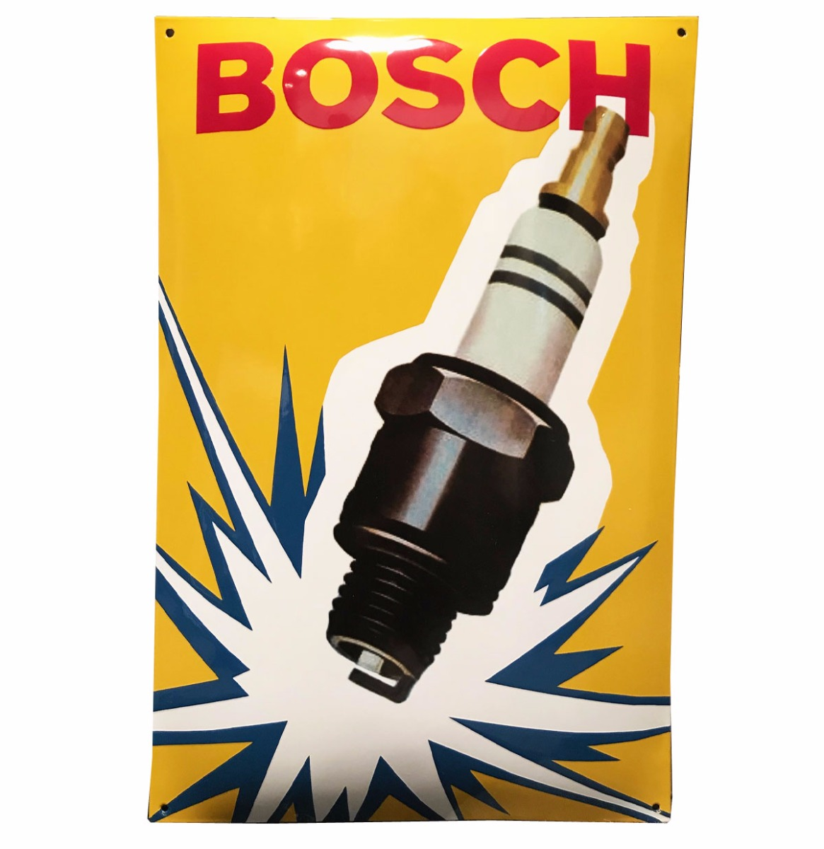 Bosch Spark Plug Bougies Emaille Bord 60 x 40 cm