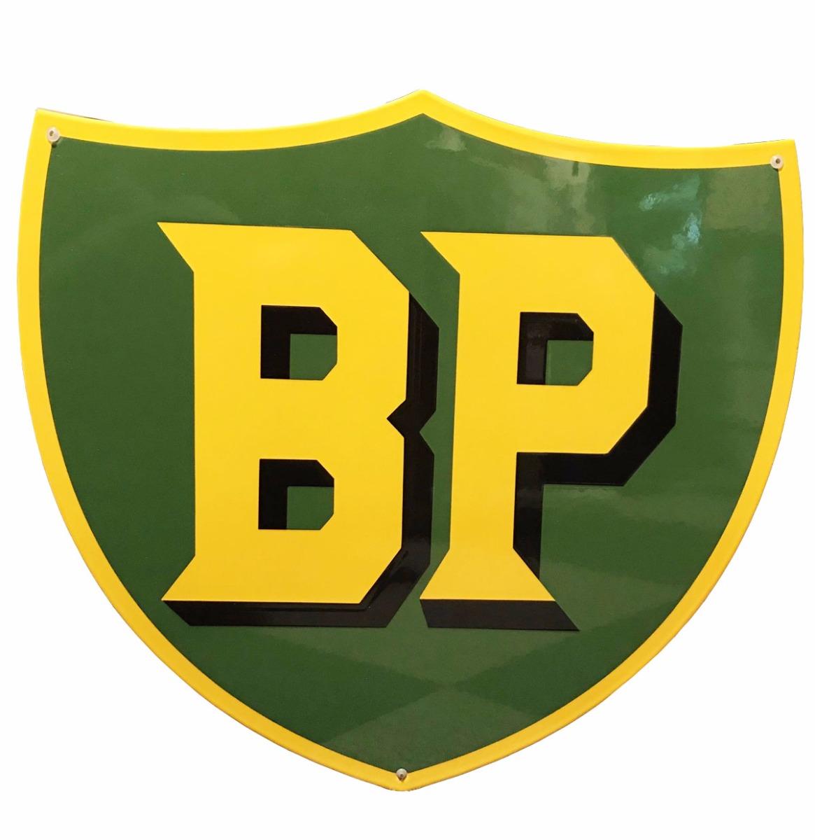 BP Logo Zwaar Emaille Bord 50 x 47 cm